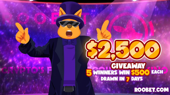 4 days left on Roobet 2500$ giveaway. Feel the FOMO!
