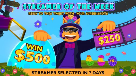 Roobet's Streamer of The Week. Join the race for a $500 prize.